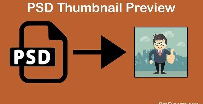 PSD Thumbnail Preview