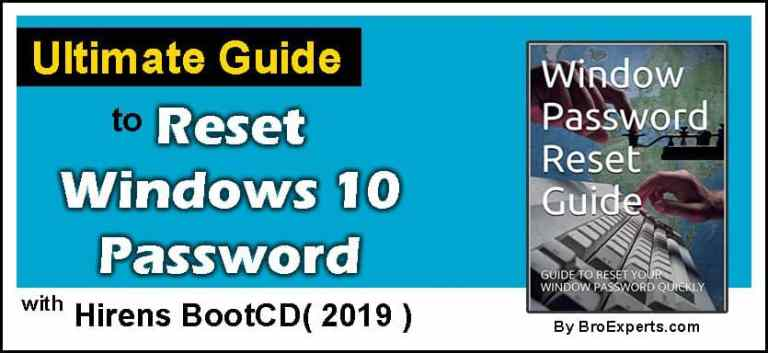 windows 10 password reset step by step guide