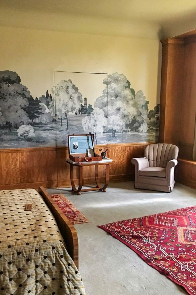 Eltham Palace Bedroom London UK