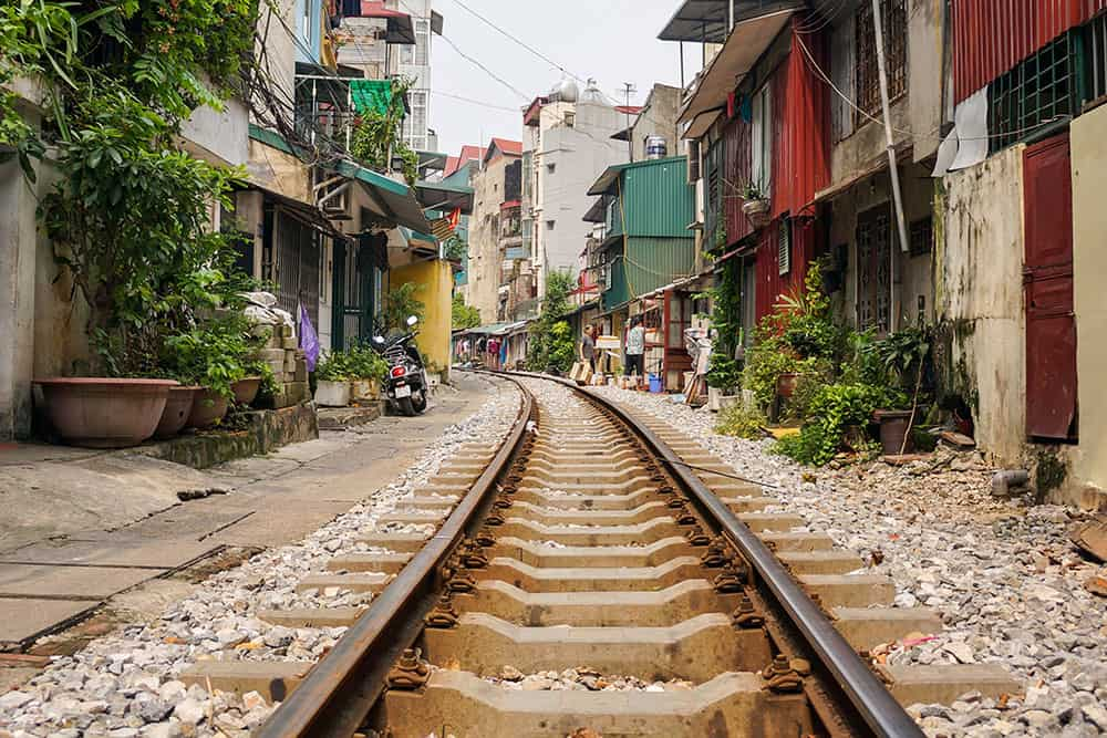 Hanoi Train Street Vietnam
