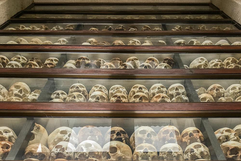 Killing Fields Skulls Cambodia