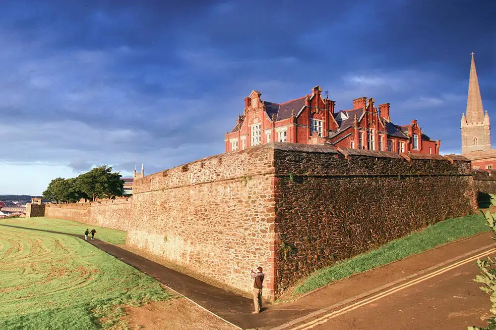 City Walls in Derry - part of your Northern Ireland Itinerary