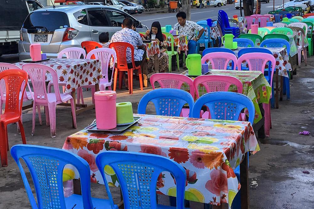 Yangon Street Restaurant Myanmar Burma