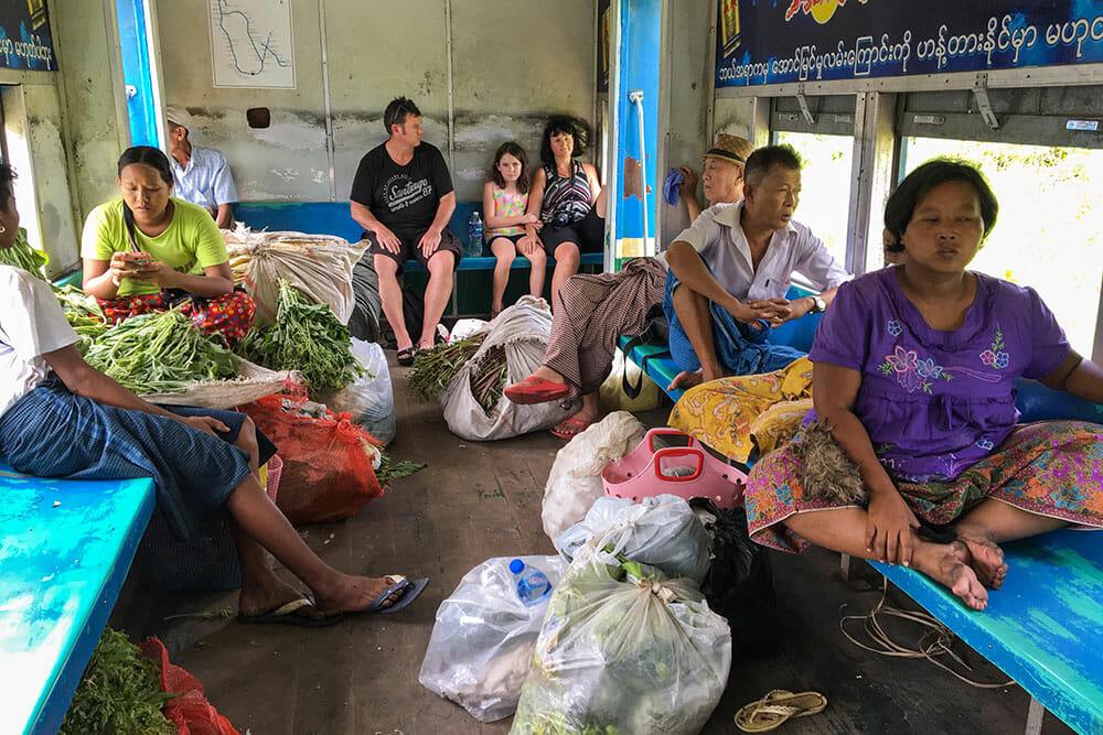 Yangon Circle Train Myanmar Burma
