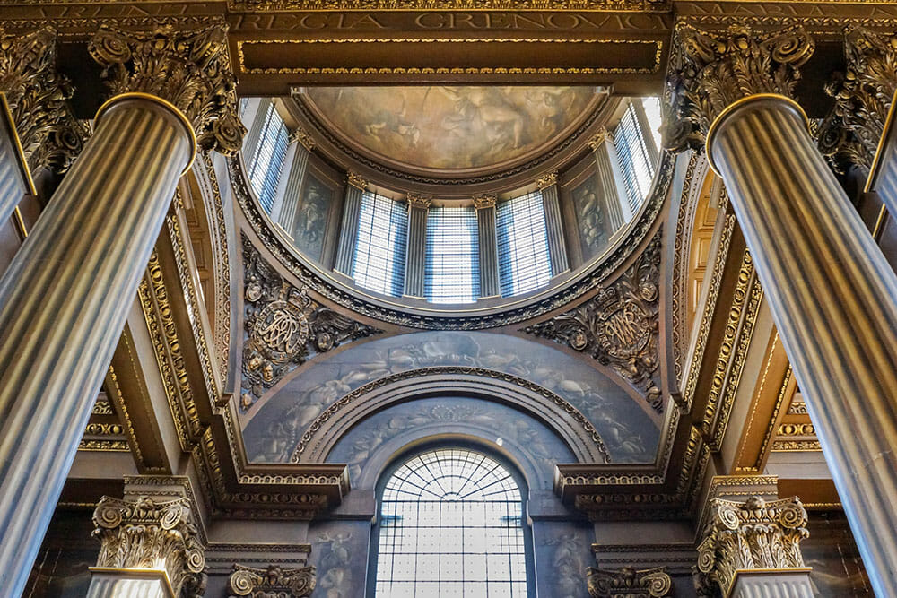 london greenwich naval college painted hall