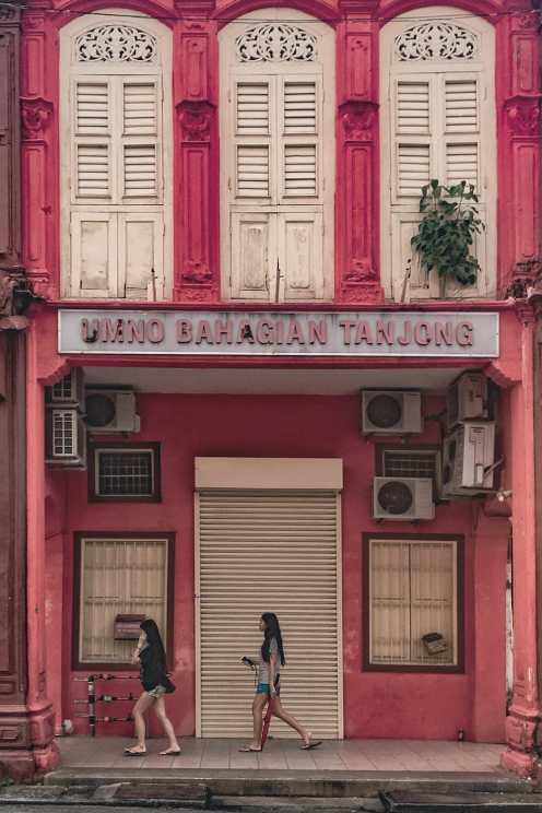 Families lived above a shop, hence the name shophouse