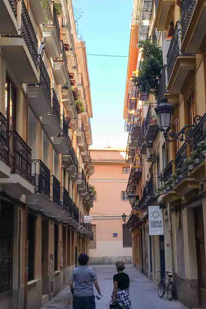Narrow street in Valencia old town