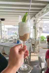 Yogurt with lemon and biscuit, Syros Greece