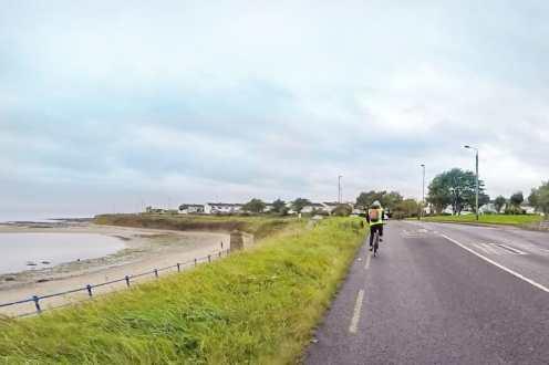 Adventure in Dublin Cycling along county Dublin Coast Ireland