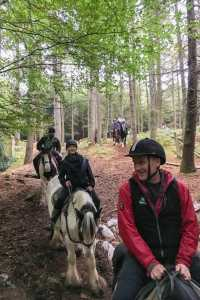 Adventure in Dublin Horse riding through the woods Ireland
