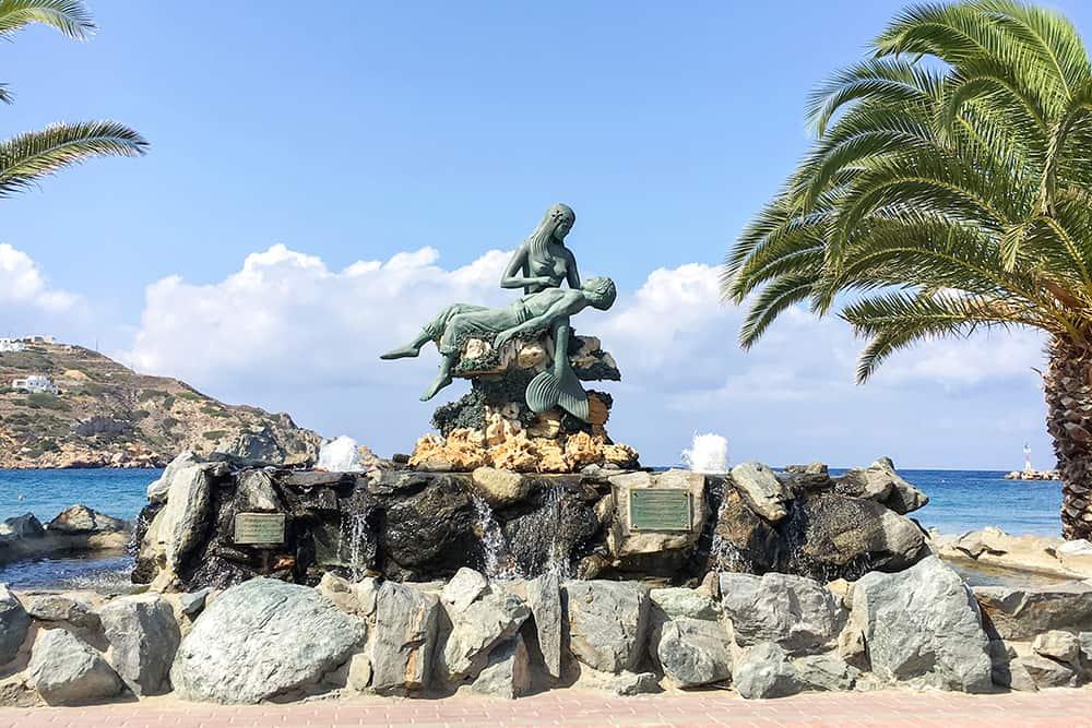Statue in Kini Syros Greece