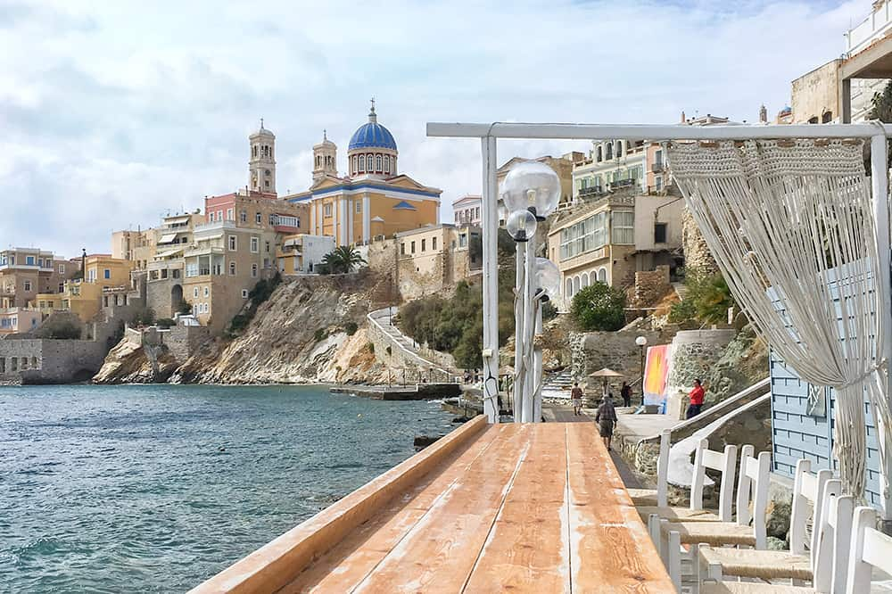 View from Asteria Bar, Syros greece