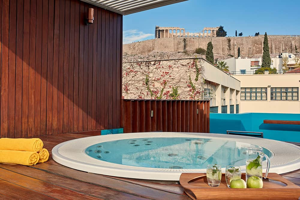 Herodion Boutique Hotel Athens view from the jacuzzi