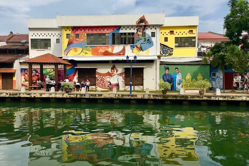 Street Art on the River in Malacca Malaysia