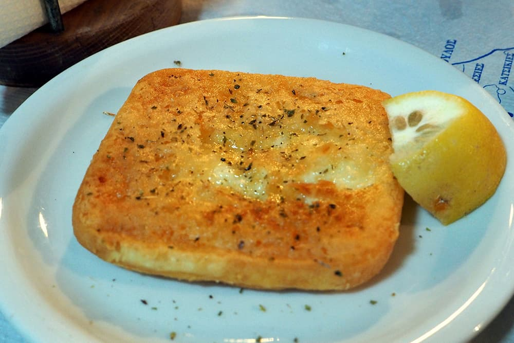 Greek Food Saganaki Fried Cheese