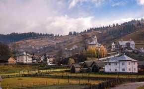 Rolling hills of Bucovina, Romania