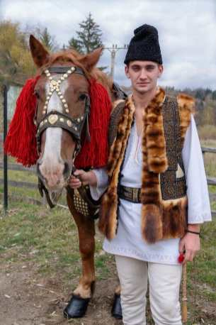 Traditional Romanian Dress and Horse