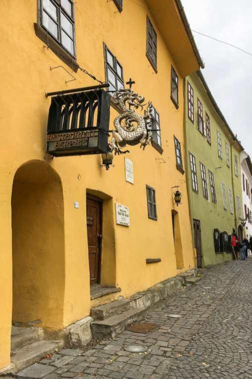 Vlad Dracul's birthplace, Sighisoara Romania