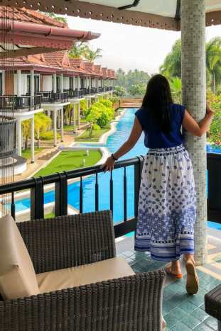 Ramada Cochin Resort Cottage Balcony Kerala India