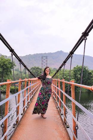 Enjoying the Inchathotty Hanging Bridge in Kerala - #kerala #india