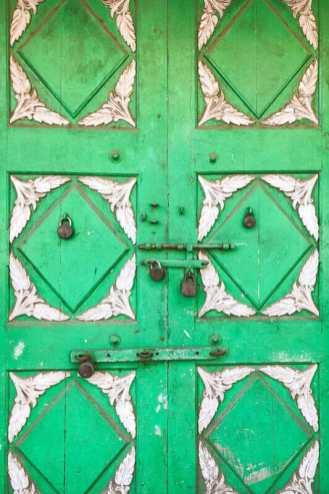Beautiful carved door in Kochi