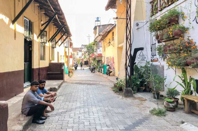 One of the lovely pedestrian streets in Fort Kochi where you can find a lot of cafes