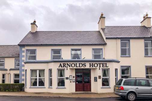 The front of Arnolds Hotel in Dunfanaghy, Donegal