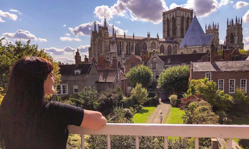 Enjoying a weekend in York. Overlooking York Minster from the City Walls