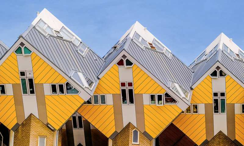 Yellow Cube House are a must visit if you are exploring in Rotterdam in one day