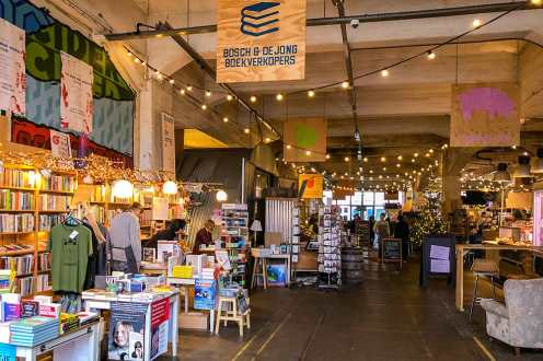 Bookshop inside an indoor market