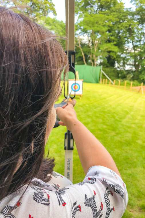 Archery-at-Studley-Castle,-Warwickshire