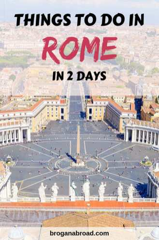 The perfect itinerary for visiting Rome in 2 days, including the Vatican City, where to stay, and how to beat the crowds at the top Rome attractions! #rome #italy #vatican #travel