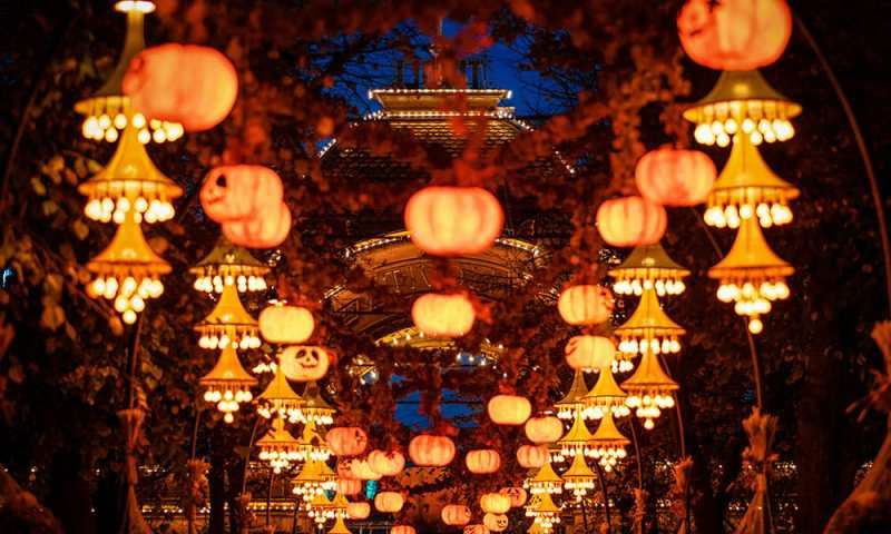 Pumpkin decorations in Copenhagen one of the best Halloween in Europe