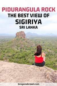Climbing Pidurangula Rock for the best views of Sigiriya, Sri Lanka