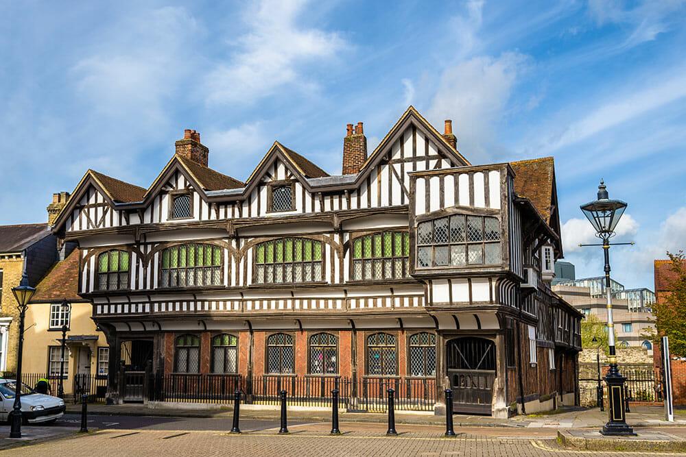 Timber framed Tudor house in Southampton
