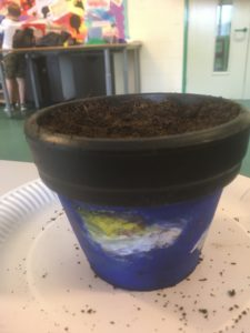 painting and planting flower pots