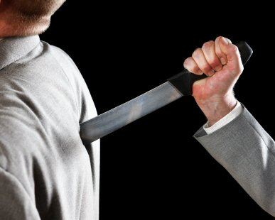 COPING WITH BACK STABBERS AT WORK