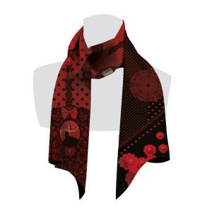 écharpe pour femme rouge