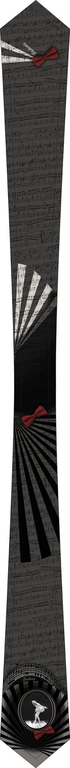 cravate femme noire et blanc cassé