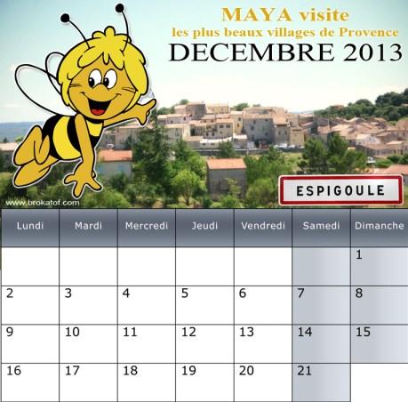 La preuve, ce calendrier MAYA 2013 ne compte que 21 jours.