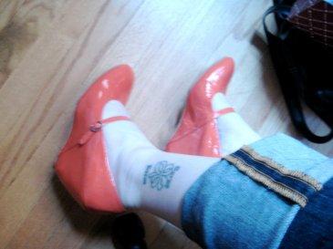 Orange mary jane wedges 2009 indie