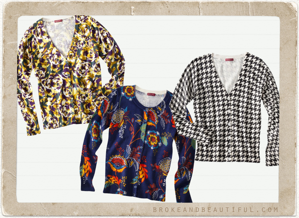 Cute Patterned Cardigans Under $25: Target - Printed Sweaters & Cardigans Under $25
