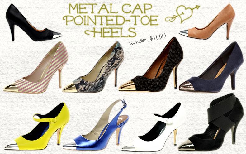 And Beautiful Metal Broke Steel Packed ToePower Tipped Heels • erdxCBo
