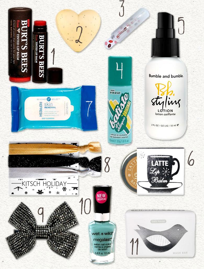 11 Beauty-themed stocking stuff/mini-gift ideas