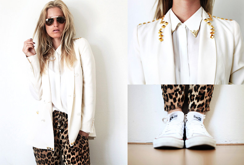 White & Leopard Print outfit by Style Advisor