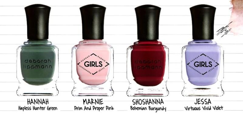 Deborah Lippmann x HBO's Girls Nail Polish Collection