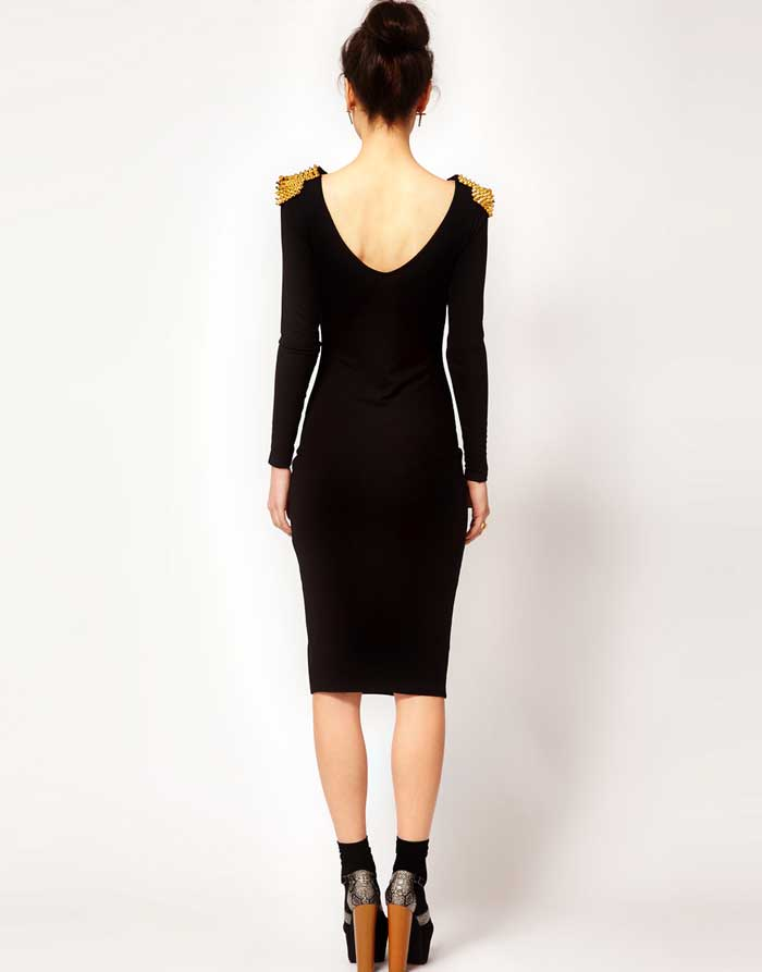 ASOS Studded Shoulder Dress