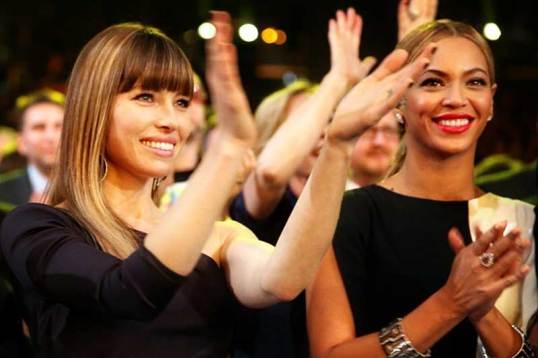 Jessica Biel & Beyonce
