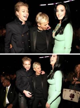 Katy Perry Ellen Degeneres and Portia di Rossi
