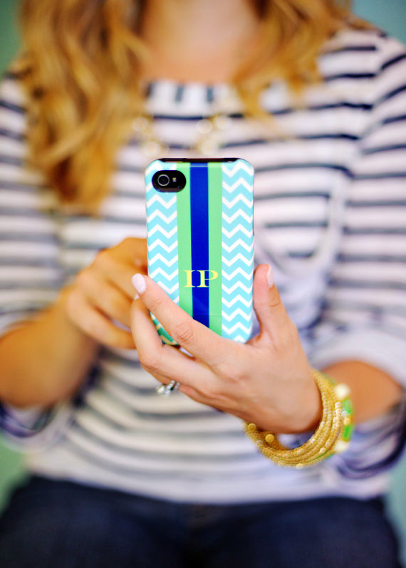 Pretty Smitten Chevron iPhone case